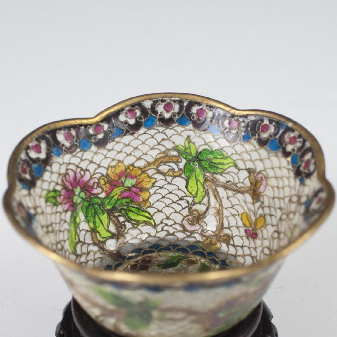 Chinese Plique a Jour Diminutive Bowl - 2