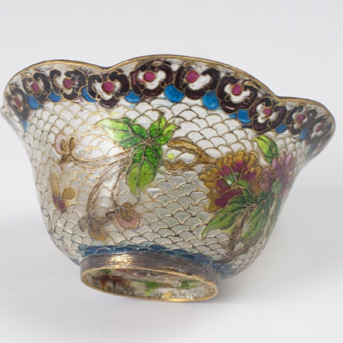 Chinese Plique a Jour Diminutive Bowl - 3