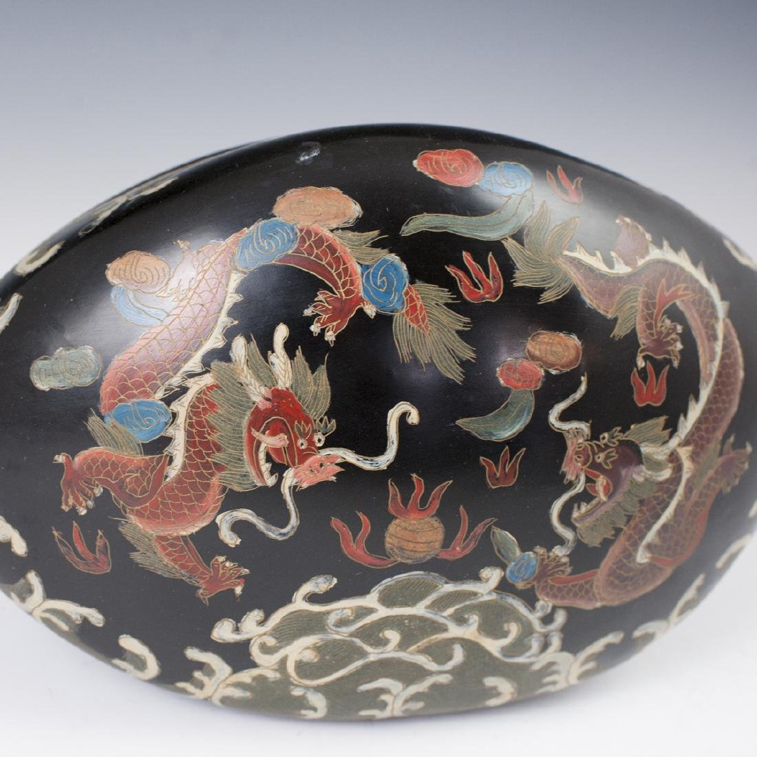 Chinese Lacquered Papier Mache Box - 2