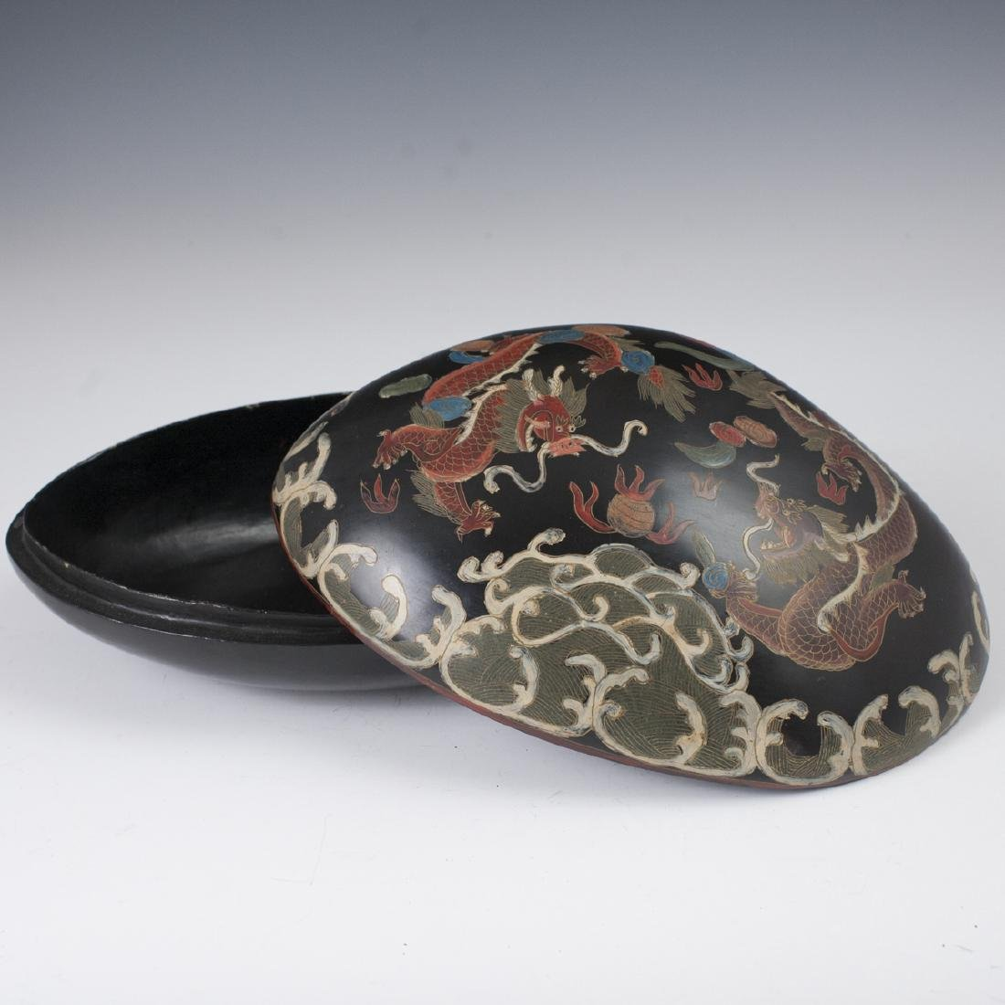 Chinese Lacquered Papier Mache Box - 4