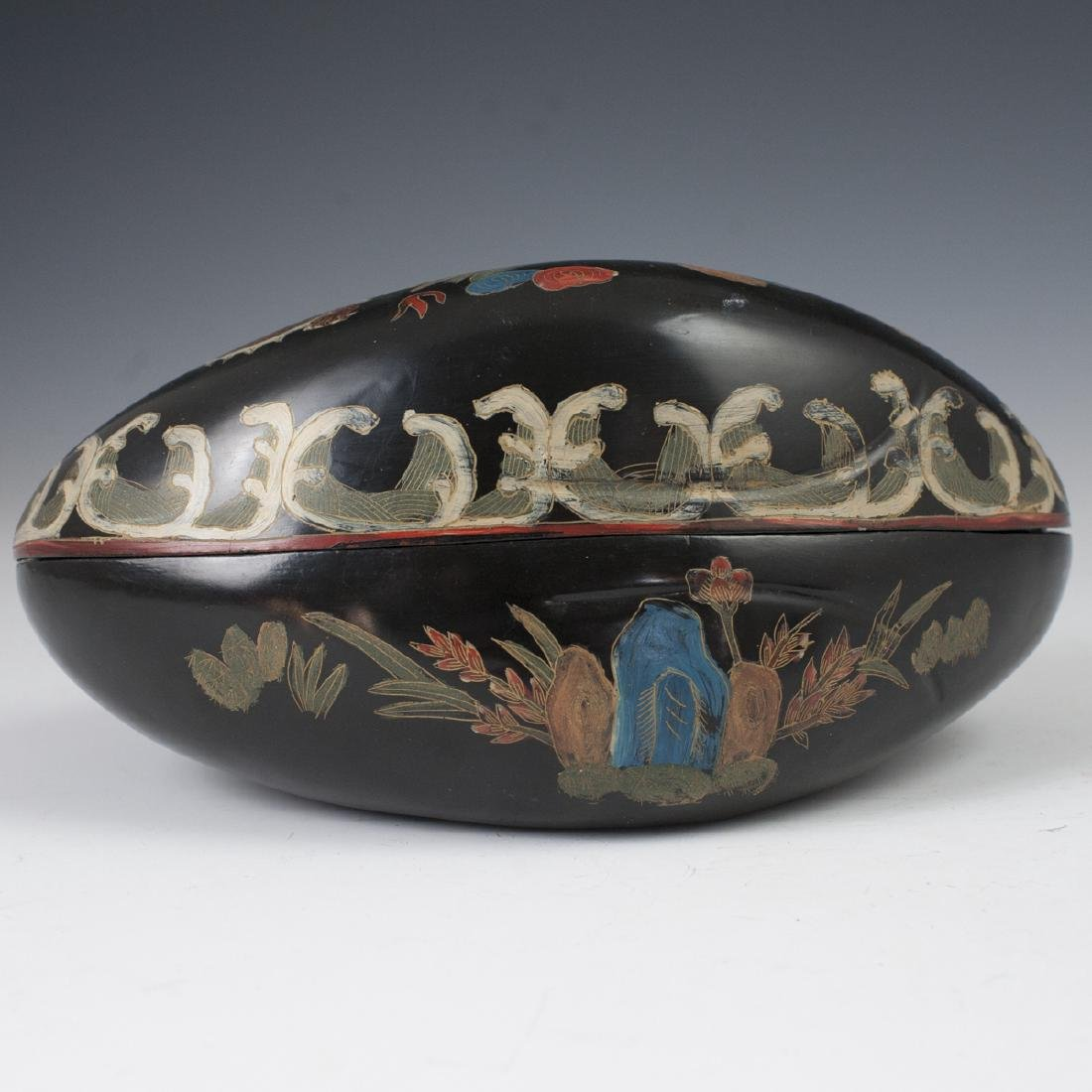 Chinese Lacquered Papier Mache Box - 5