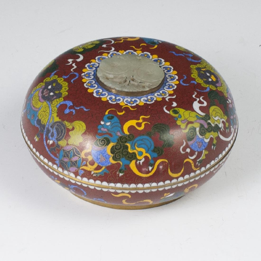 Chinese Cloisonne Enameled Jade Box