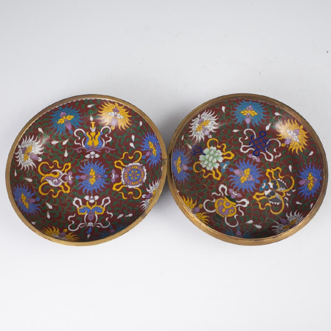 Chinese Cloisonne Enameled Jade Box - 3
