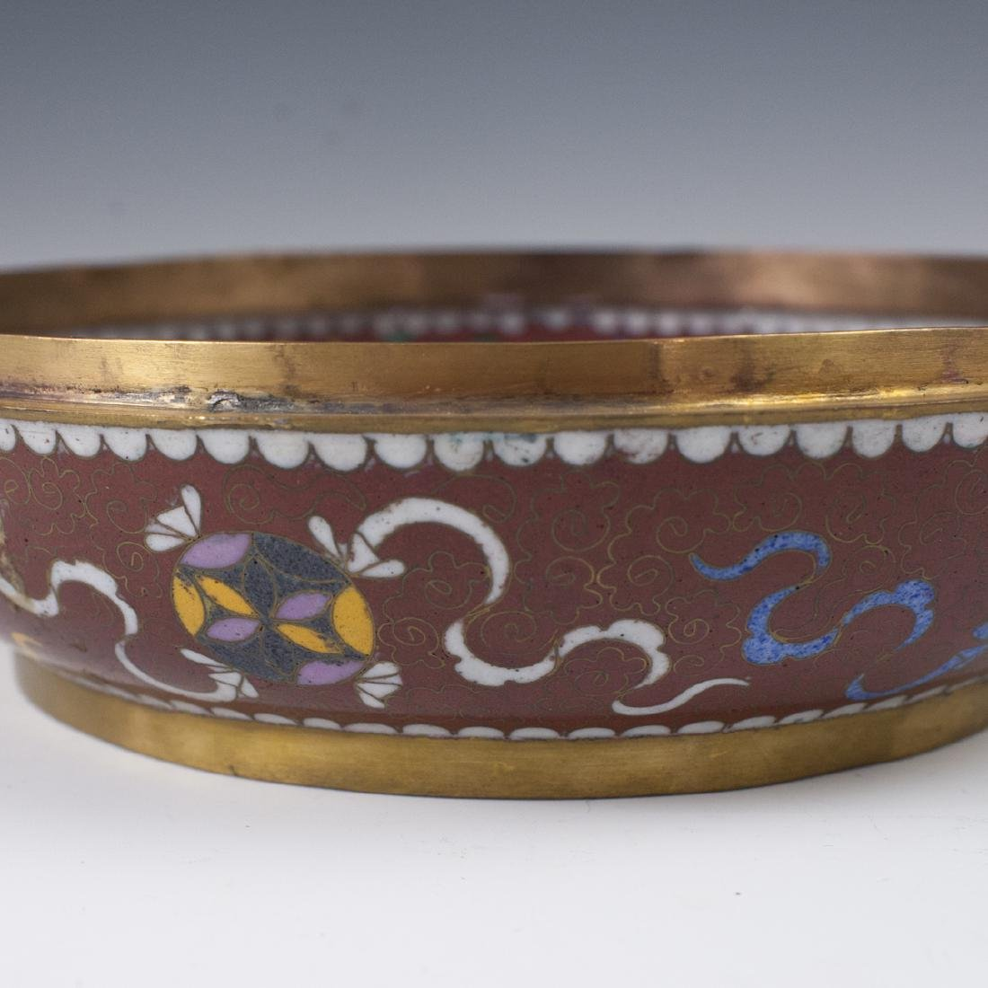 Chinese Cloisonne Enameled Jade Box - 6