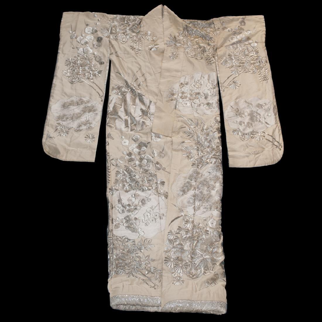 Vintage Japanese Silk Wedding Kimono