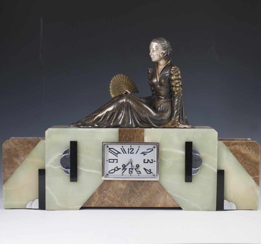 Art Deco Clock Garniture Set