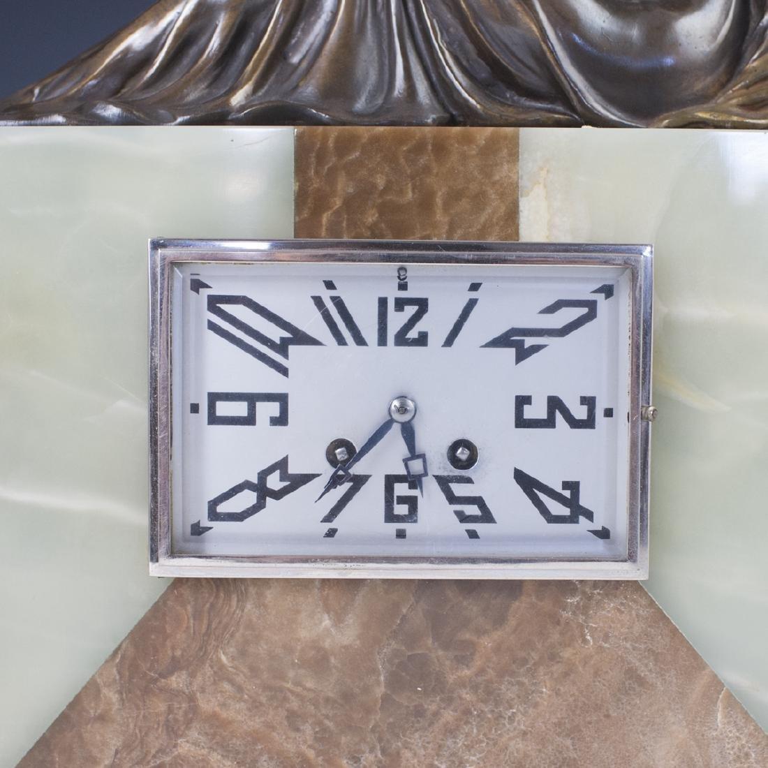 Art Deco Clock Garniture Set - 3