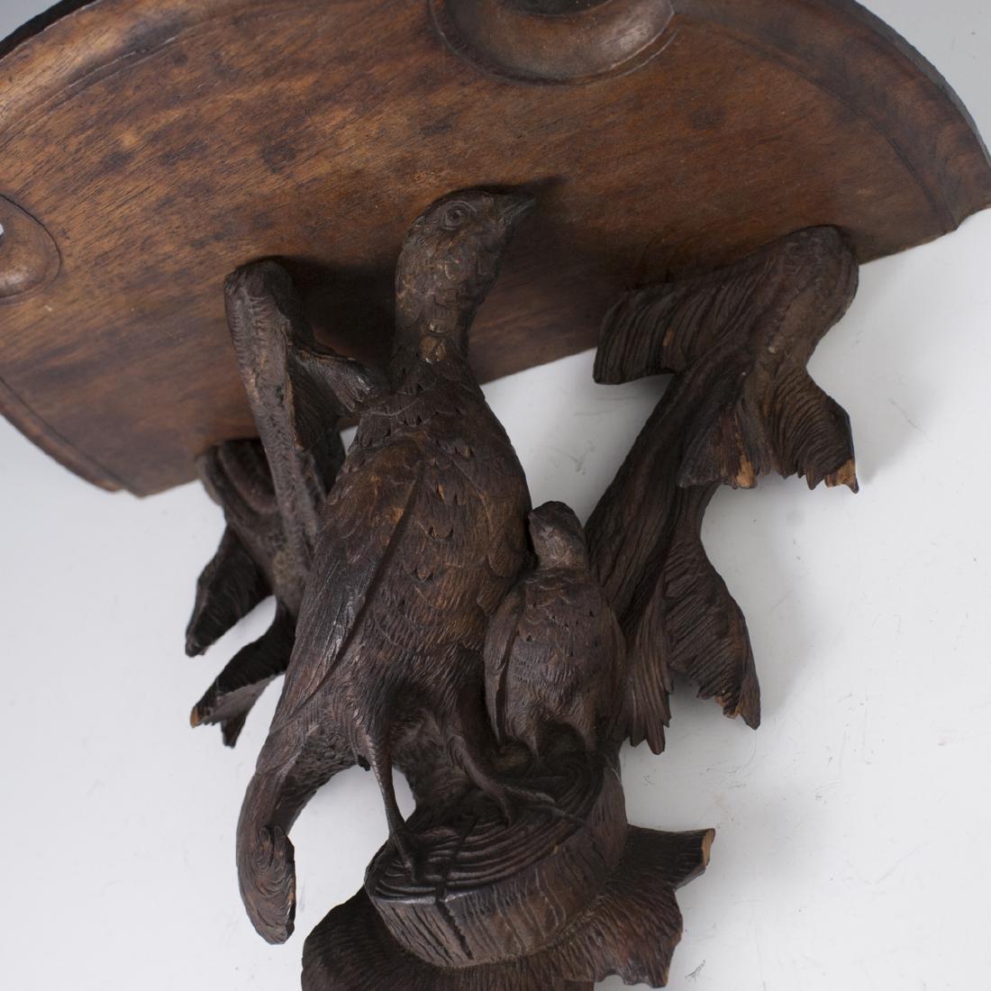 Carved Wooden Sconce Shelf - 2