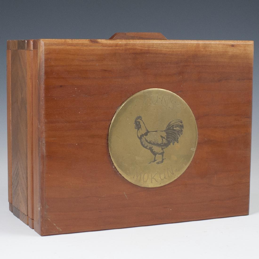 Vintage Wooden Cigar Humidor