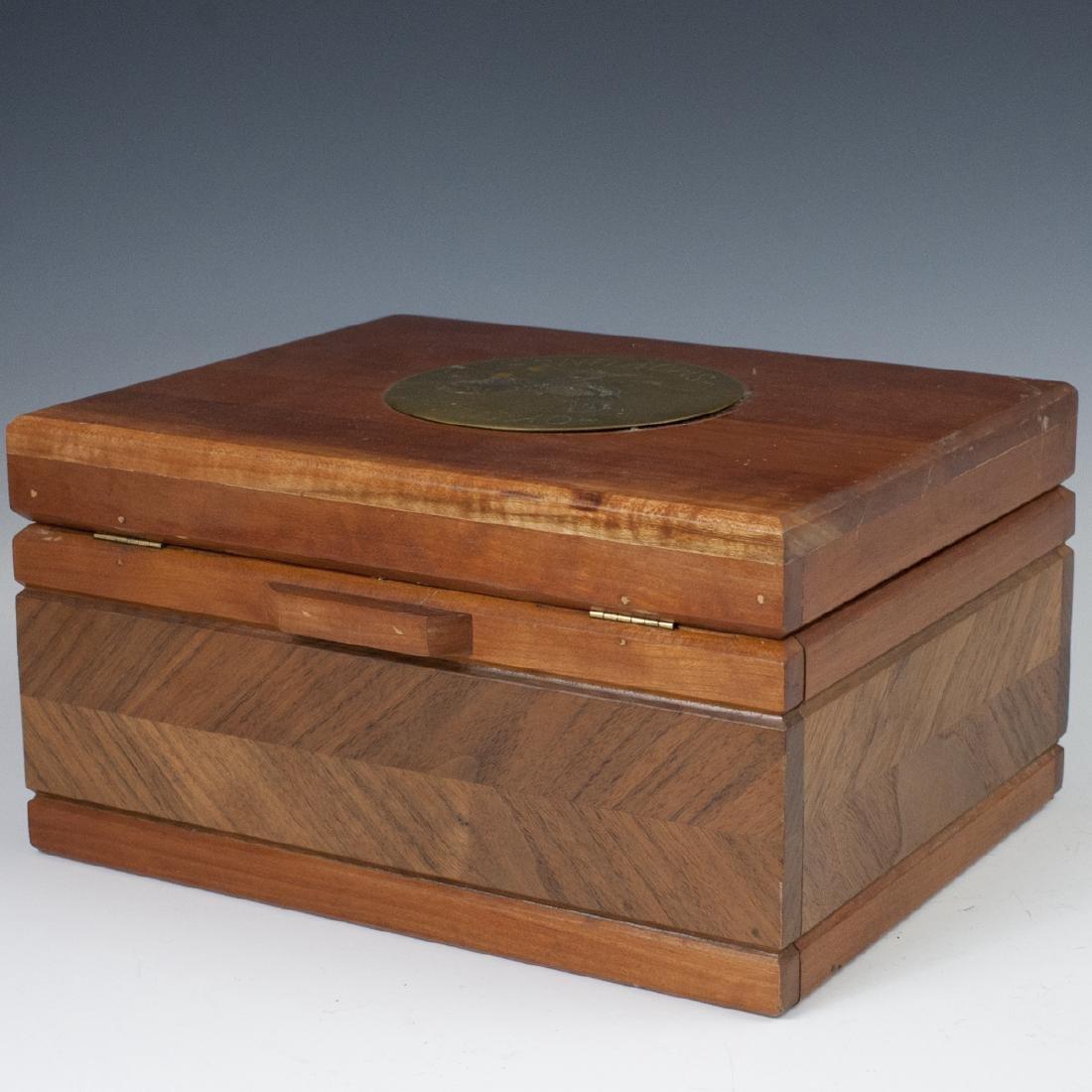 Vintage Wooden Cigar Humidor - 4