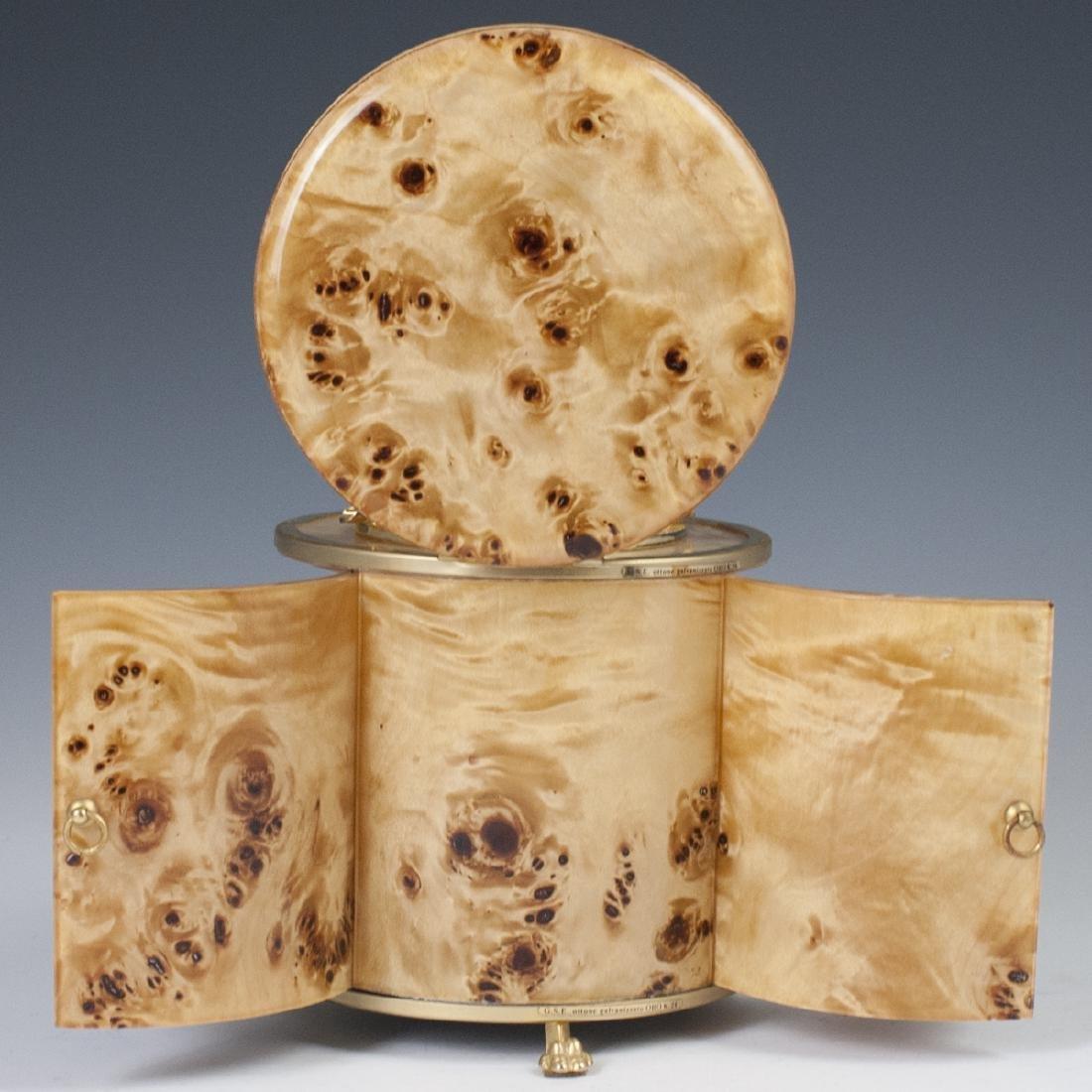 Vintage Italian Burl Wood Gold Plated Brass Smoker Set - 5