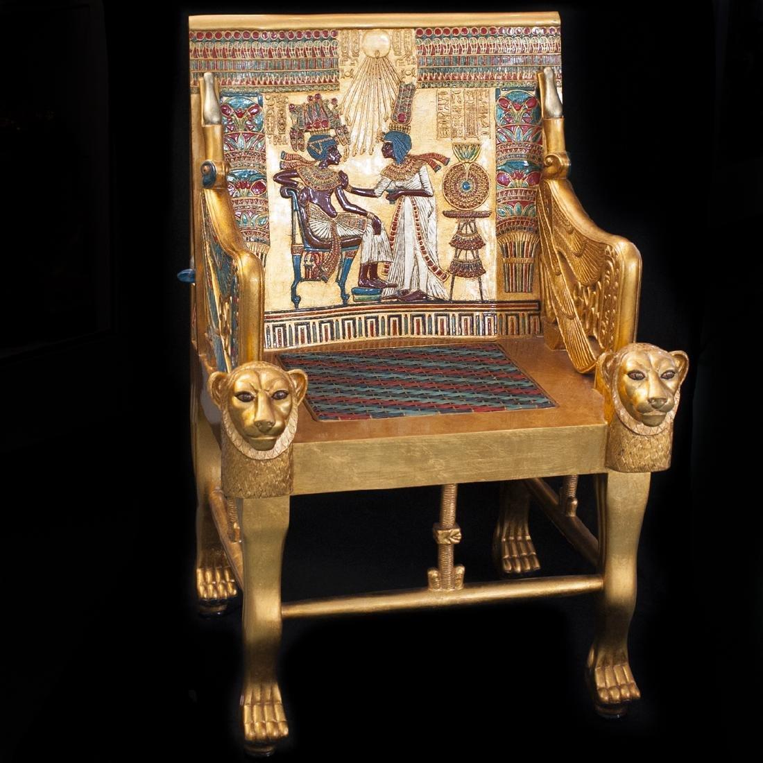 King Tut Replica Throne Chair