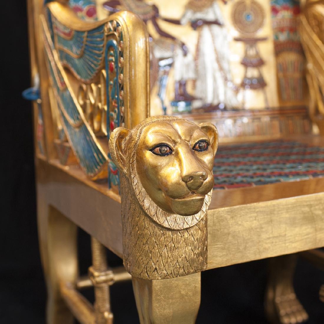 King Tut Replica Throne Chair - 4