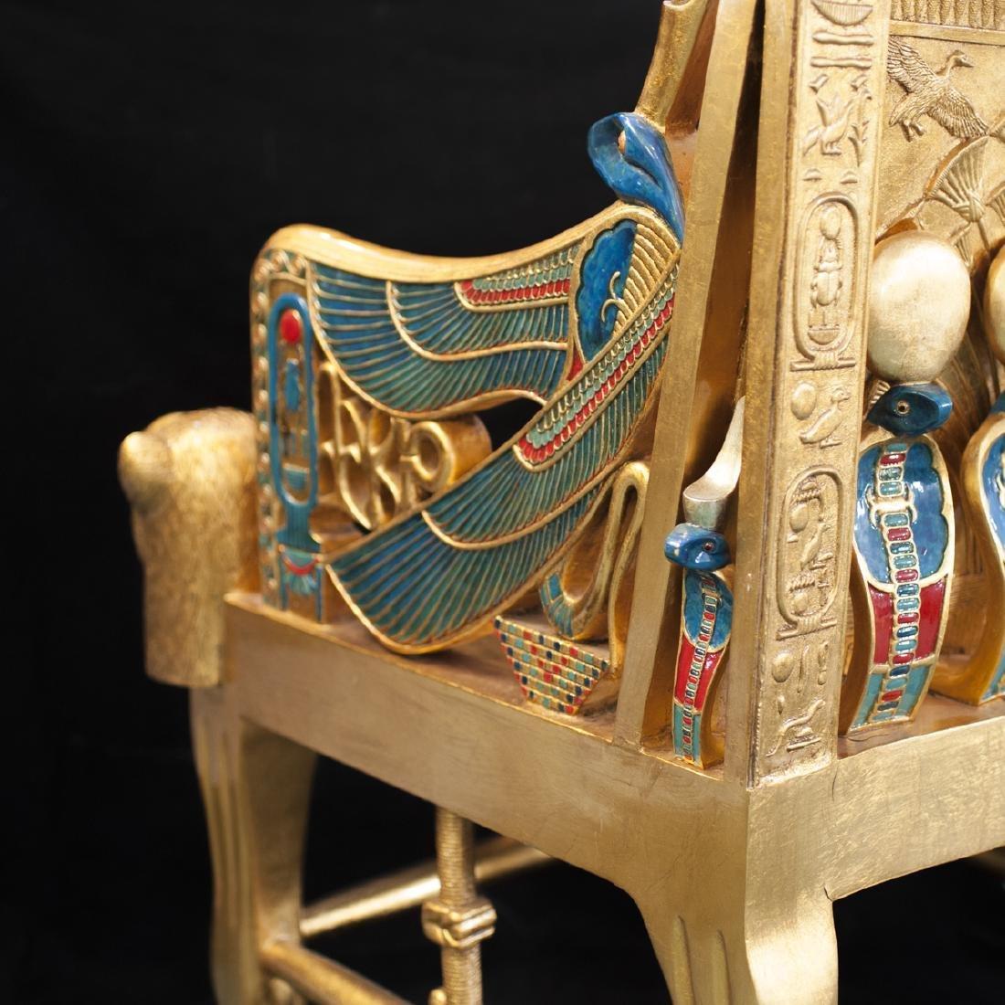King Tut Replica Throne Chair - 8