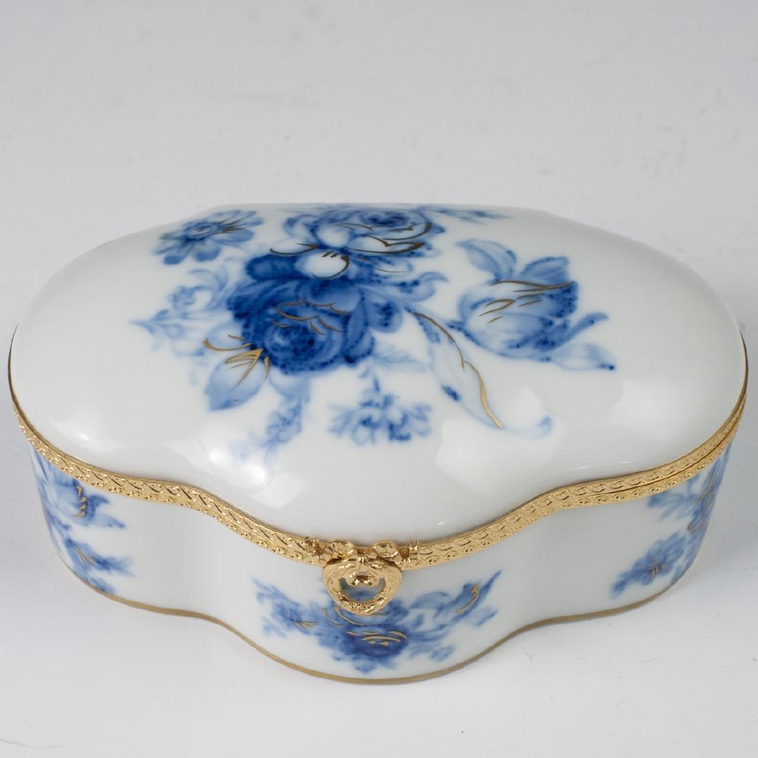 MNP Limoges Porcelain Dresser Box