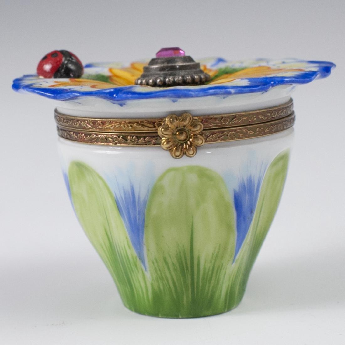 Limoges Porcelain Perfume Bottle Box - 4