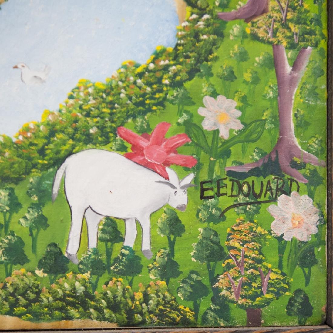 """Haitian Oil on Canvas Signed:""""E. Edouard"""" - 2"""