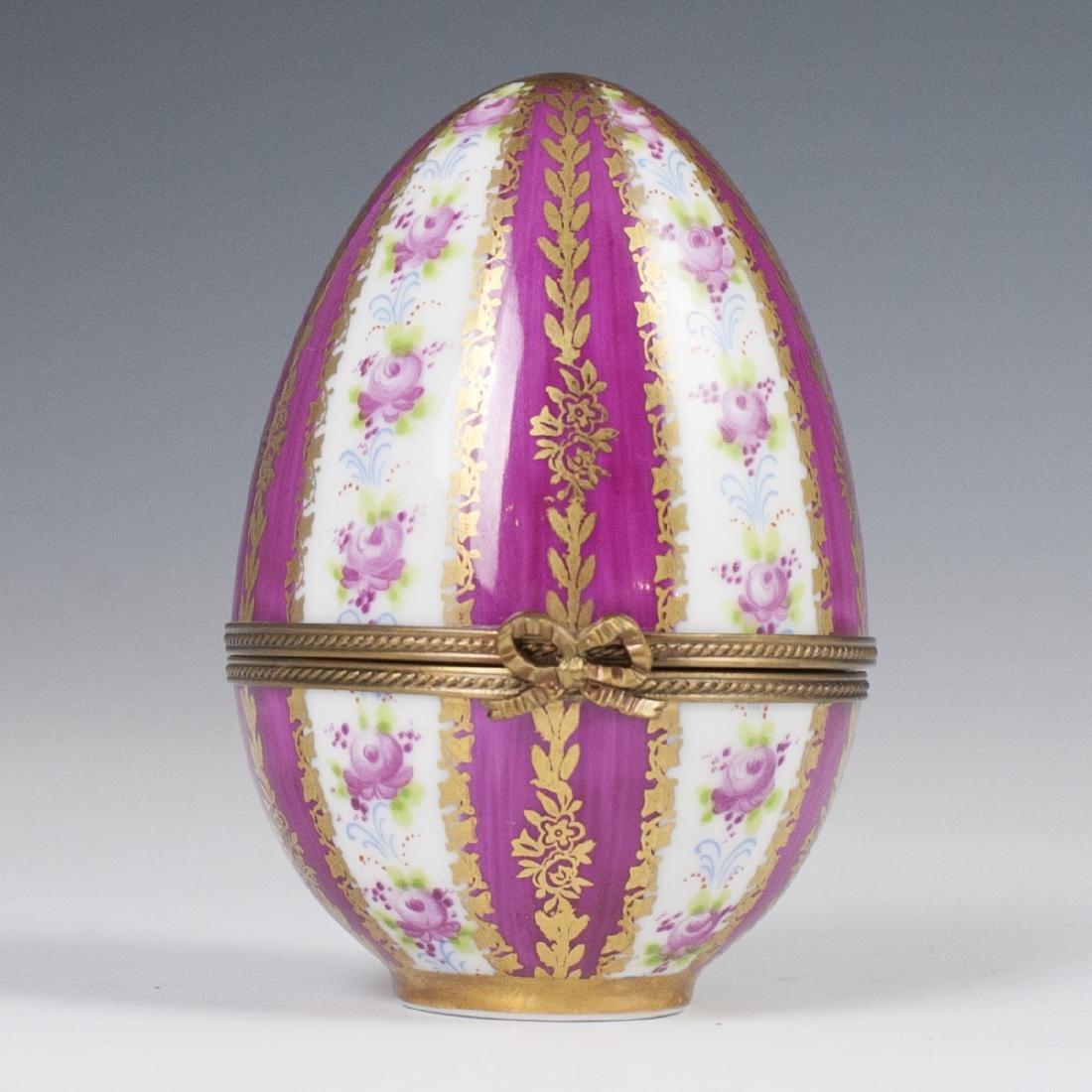 Limoges Porcelain Egg Trinket Box