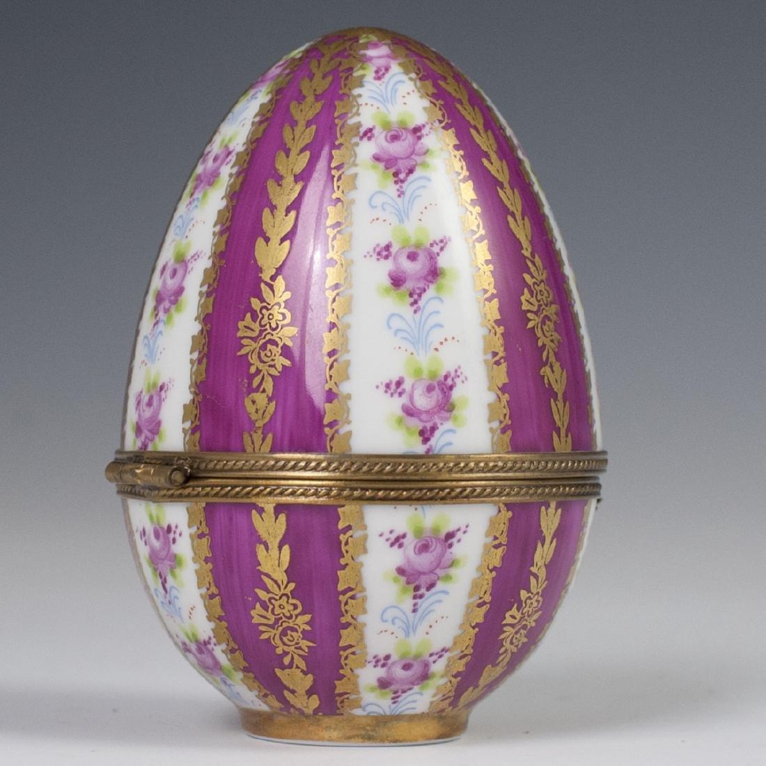 Limoges Porcelain Egg Trinket Box - 2