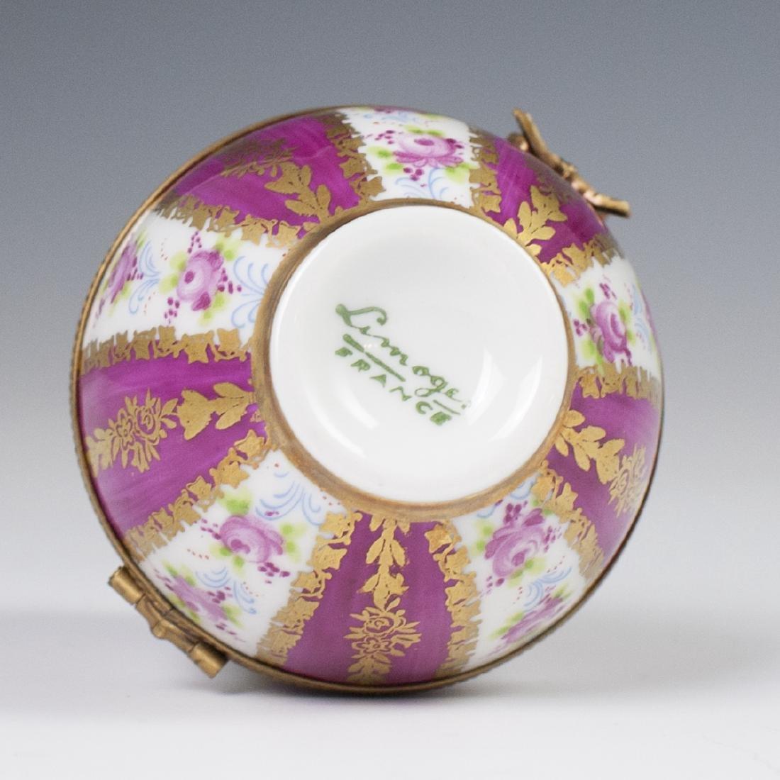 Limoges Porcelain Egg Trinket Box - 3