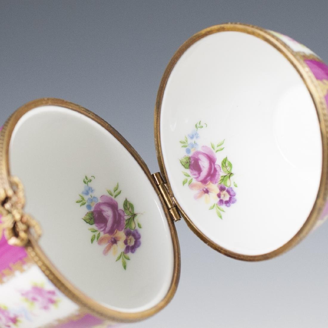 Limoges Porcelain Egg Trinket Box - 4
