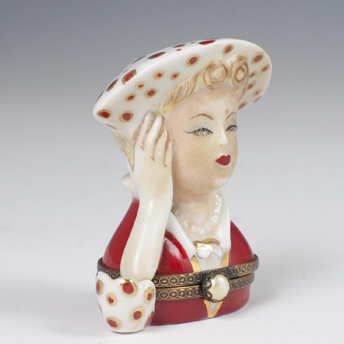 Limoges Porcelain Pill Box - 4