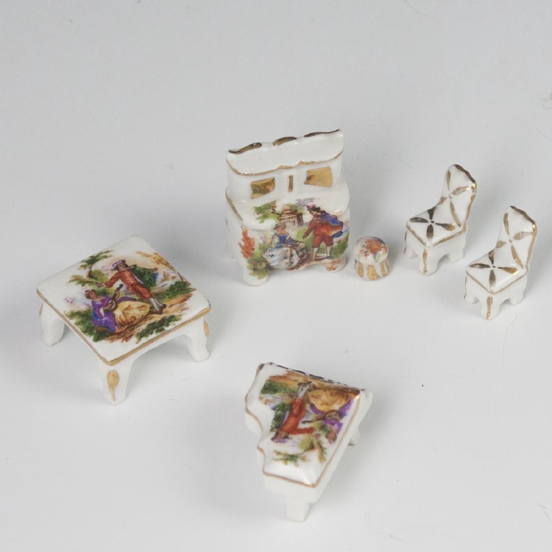 Limoges Porcelain Dollhouse Set