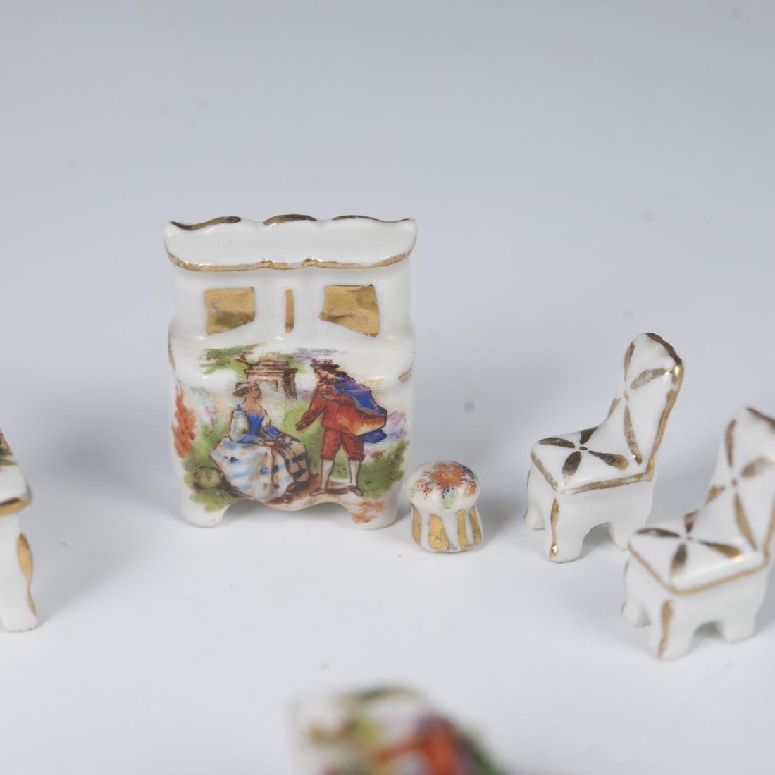 Limoges Porcelain Dollhouse Set - 2