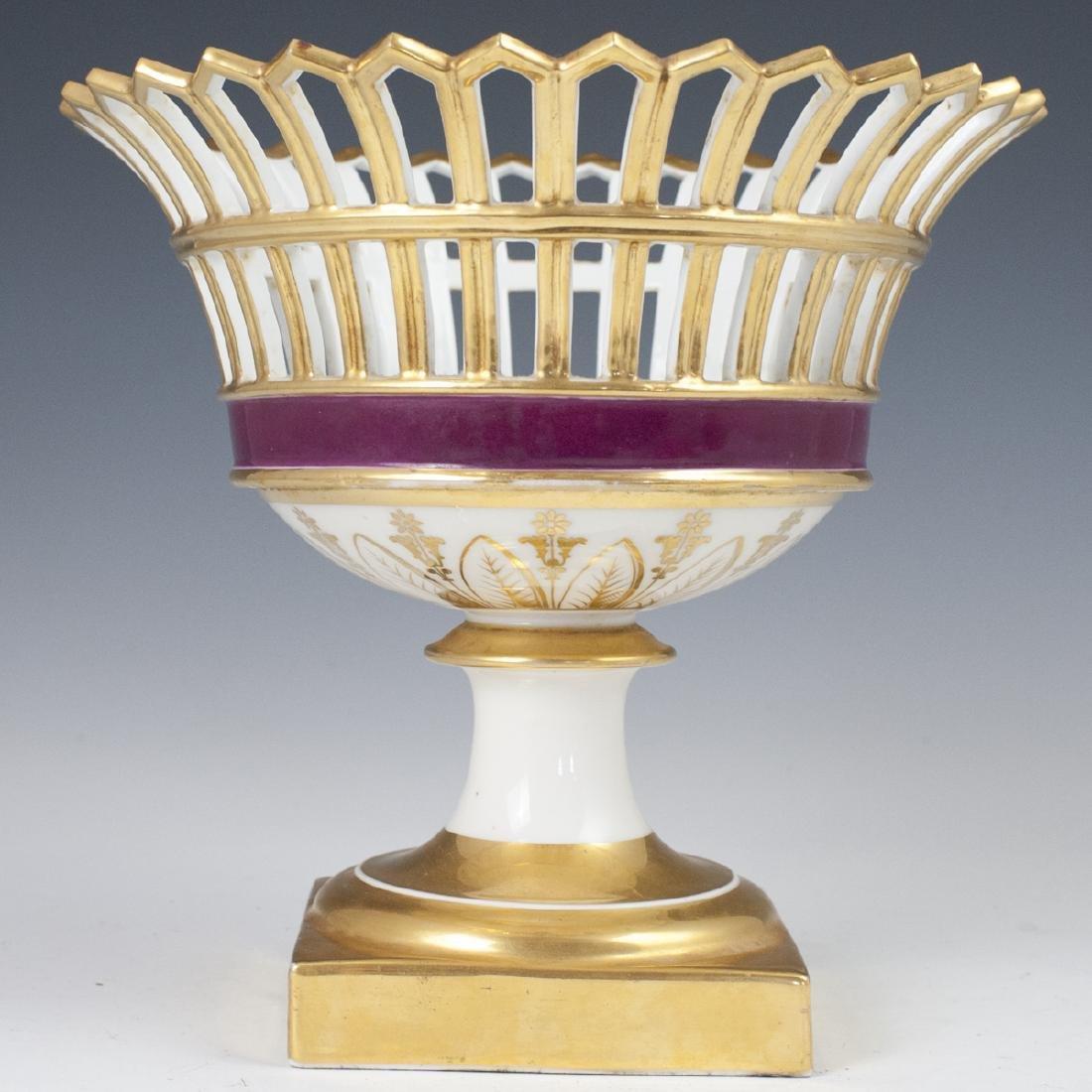 Antique German Porcelain Compote