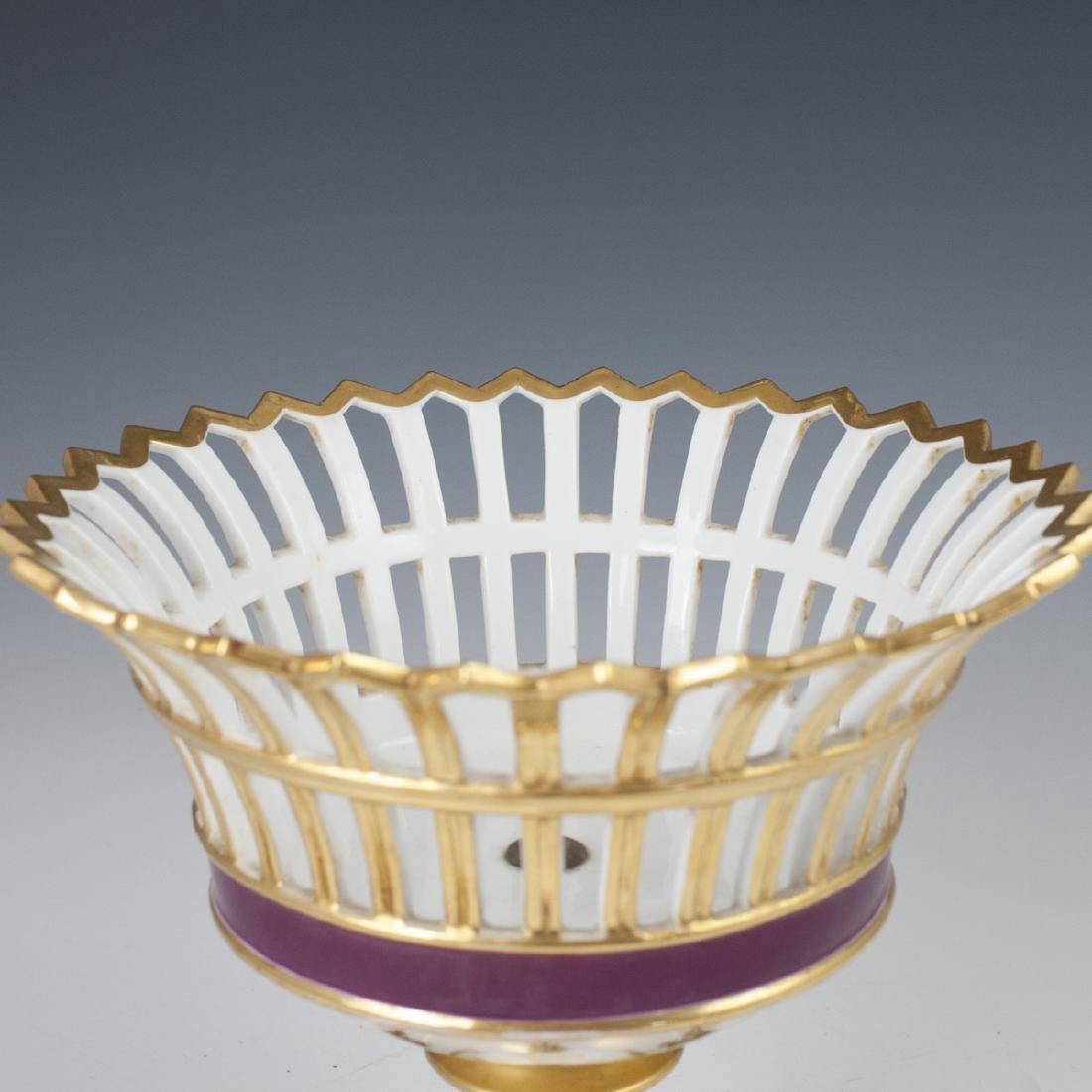 Antique German Porcelain Compote - 2