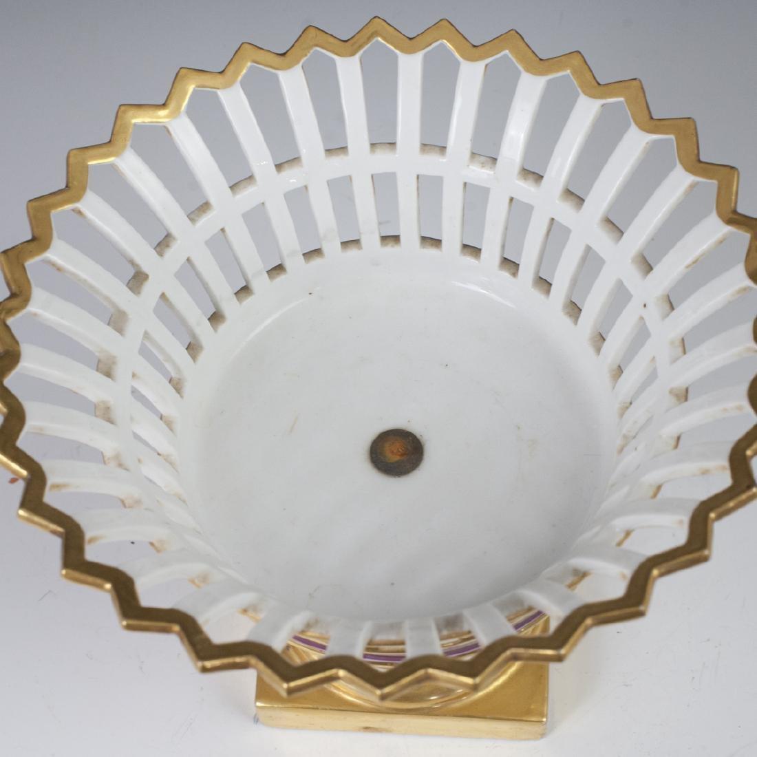 Antique German Porcelain Compote - 5