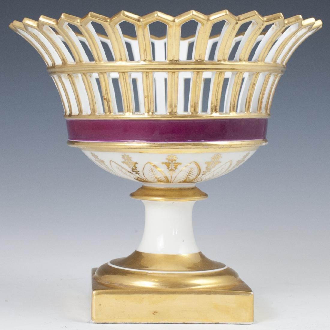 Antique German Porcelain Compote - 6