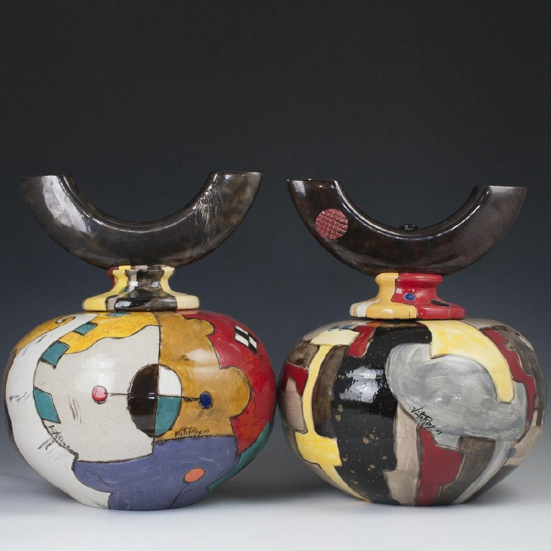 Victo Rios  Decorative Pottery Urns