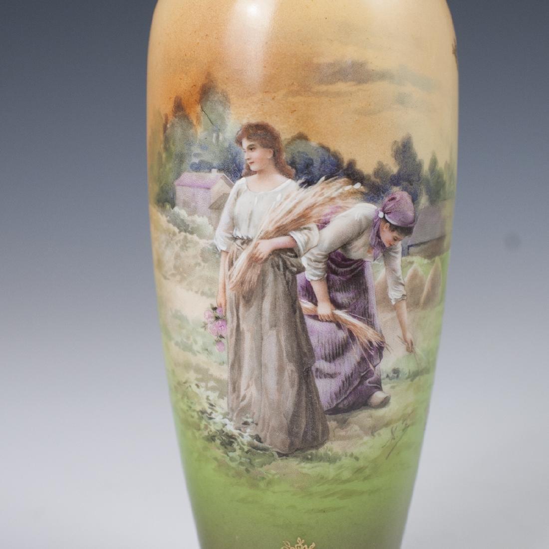 Royal Vienna Porcelain Vase - 2