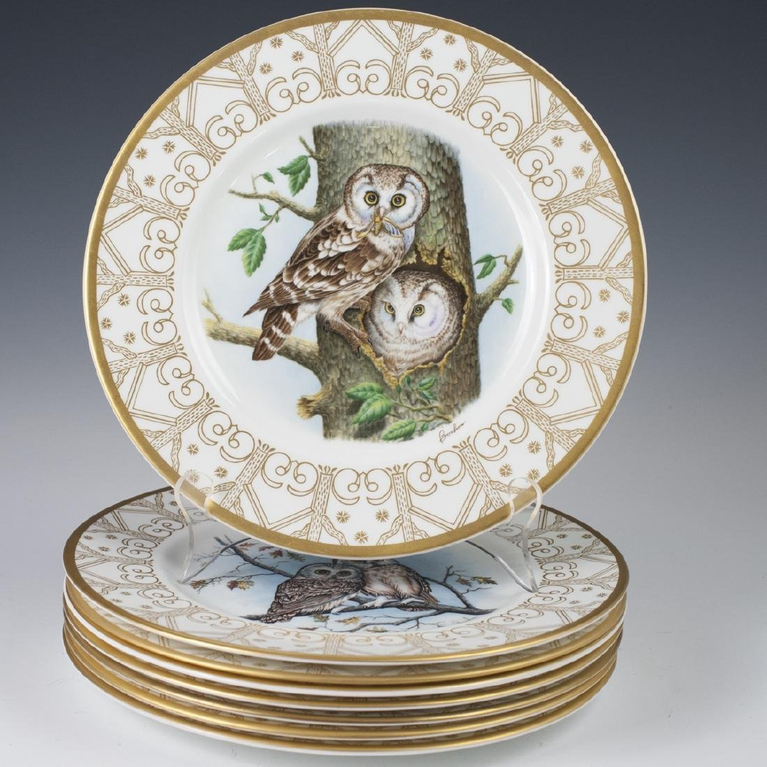 Edward Marshall Boehm Owl Plate Collection