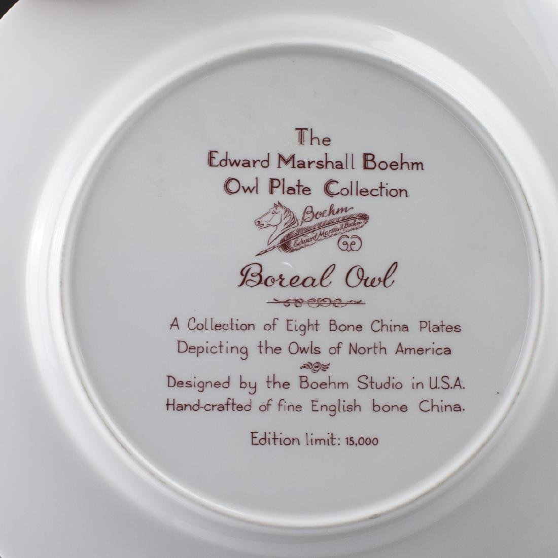 Edward Marshall Boehm Owl Plate Collection - 3