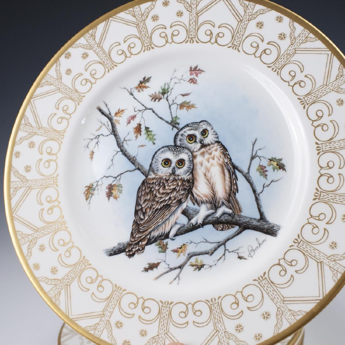 Edward Marshall Boehm Owl Plate Collection - 4