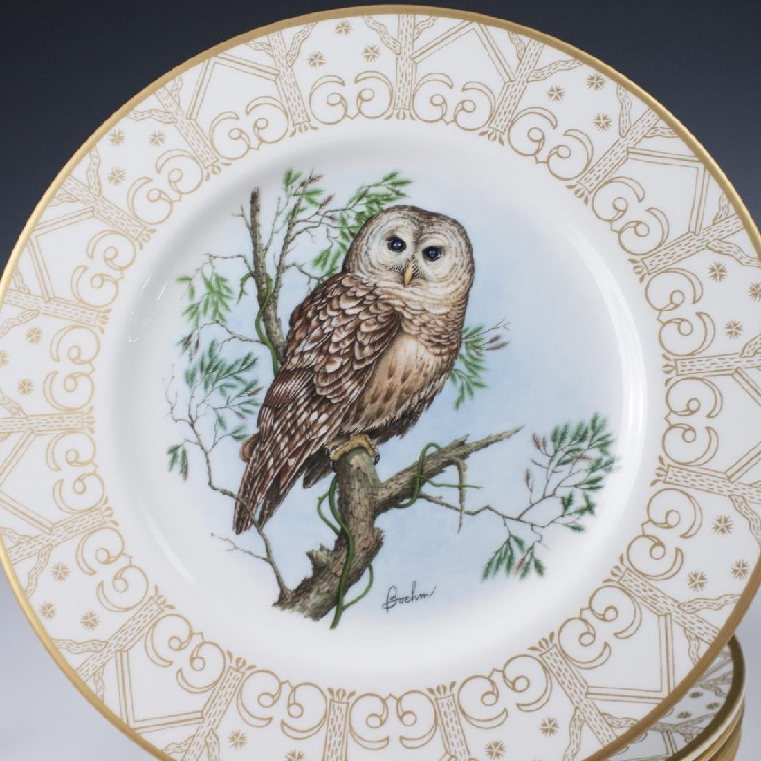 Edward Marshall Boehm Owl Plate Collection - 5