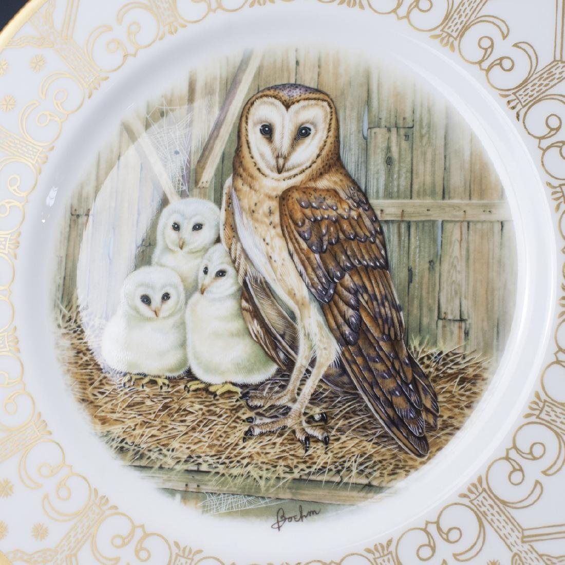 Edward Marshall Boehm Owl Plate Collection - 6