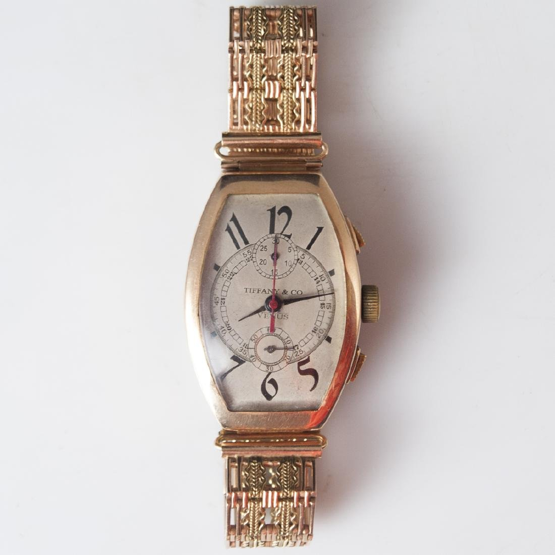 "Antique Tiffany & Co. ""Venus"" 14kt Rose Gold Watch"
