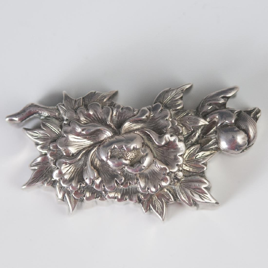 Japanese Silver Chrysanthemum Box