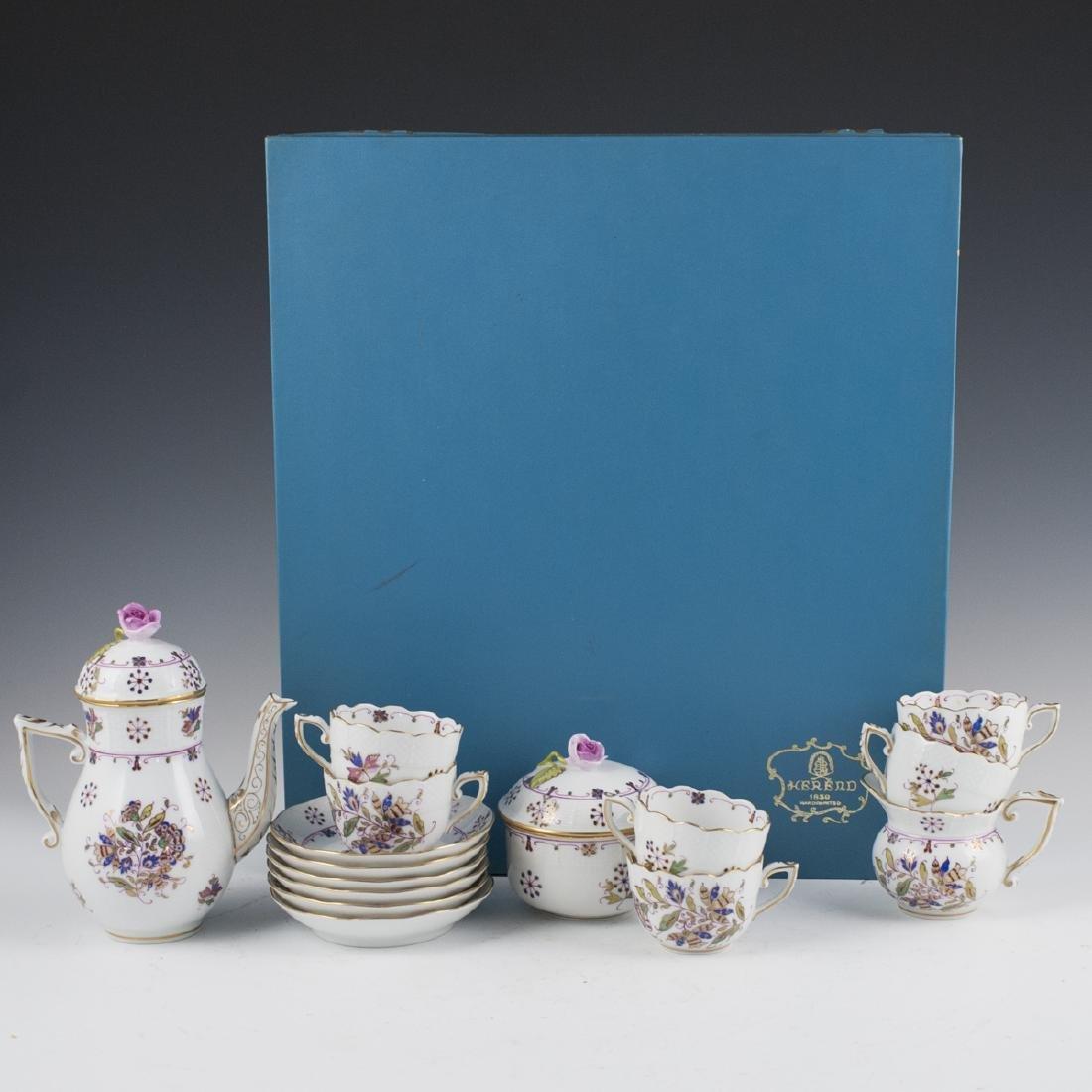 """Herend Porcelain """"Motifs Hongrois Grand"""" Tea Set"""