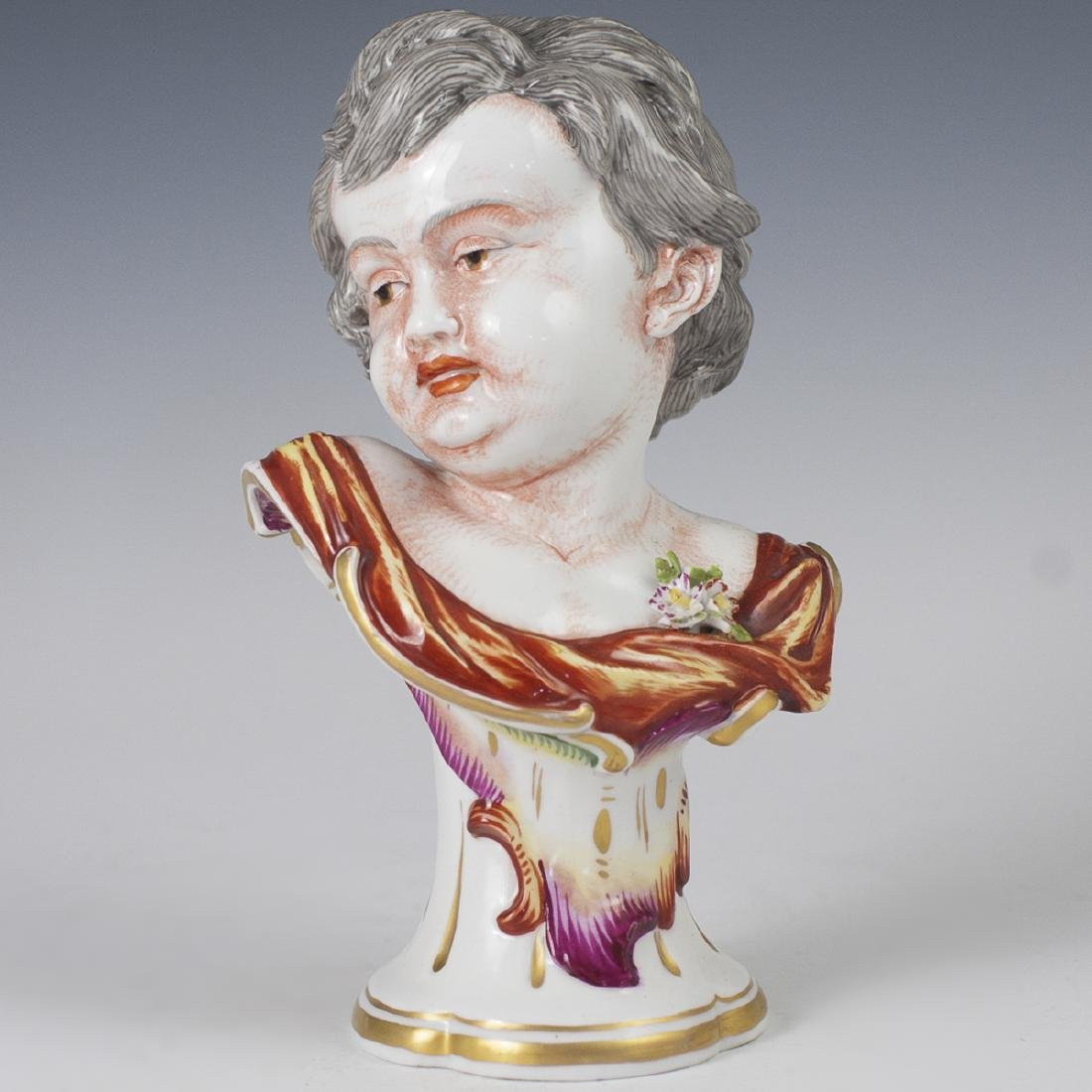 Antique Capodimonte Neoclassical Porcelain Bust