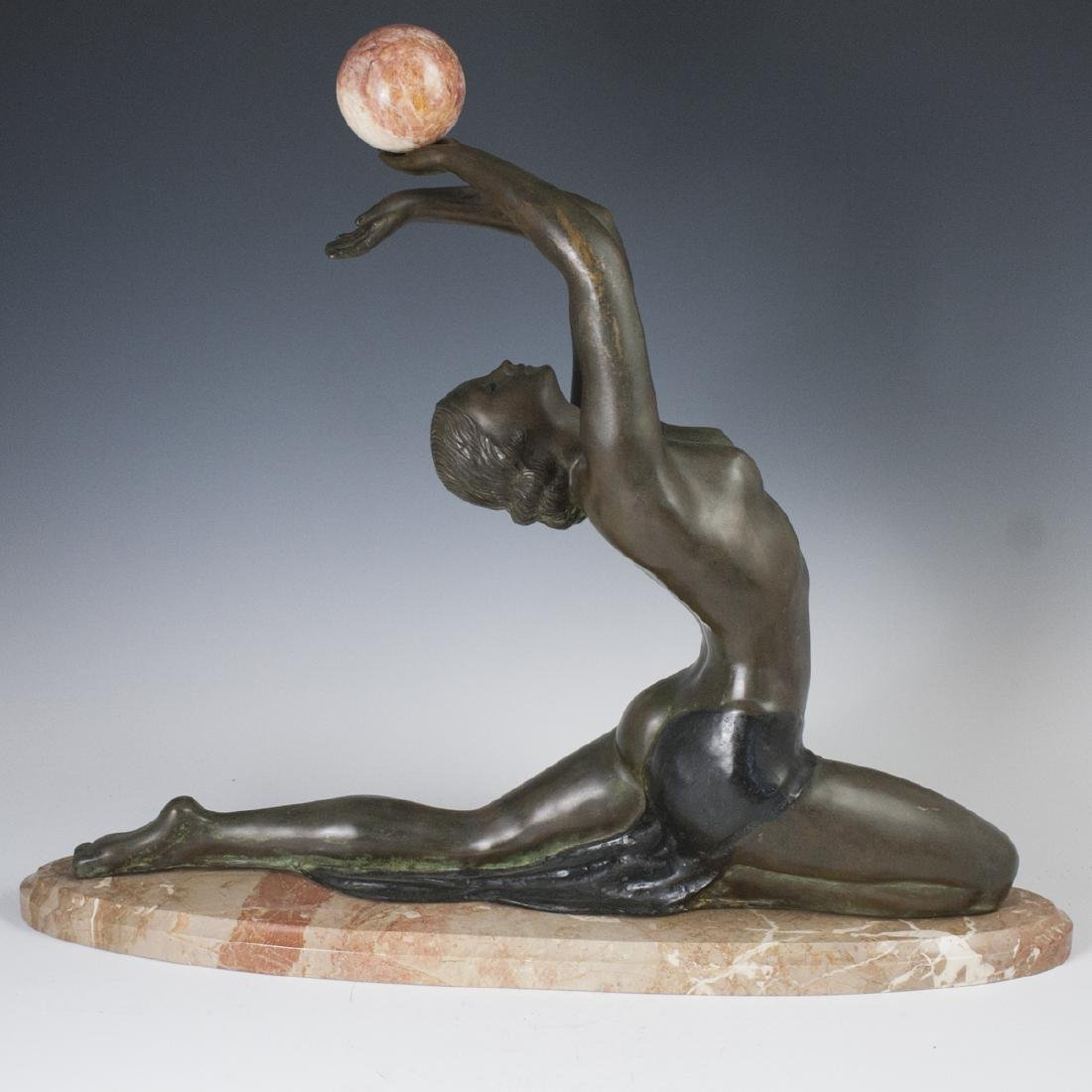 "Art Deco Bronze Signed:""A. Futres"""