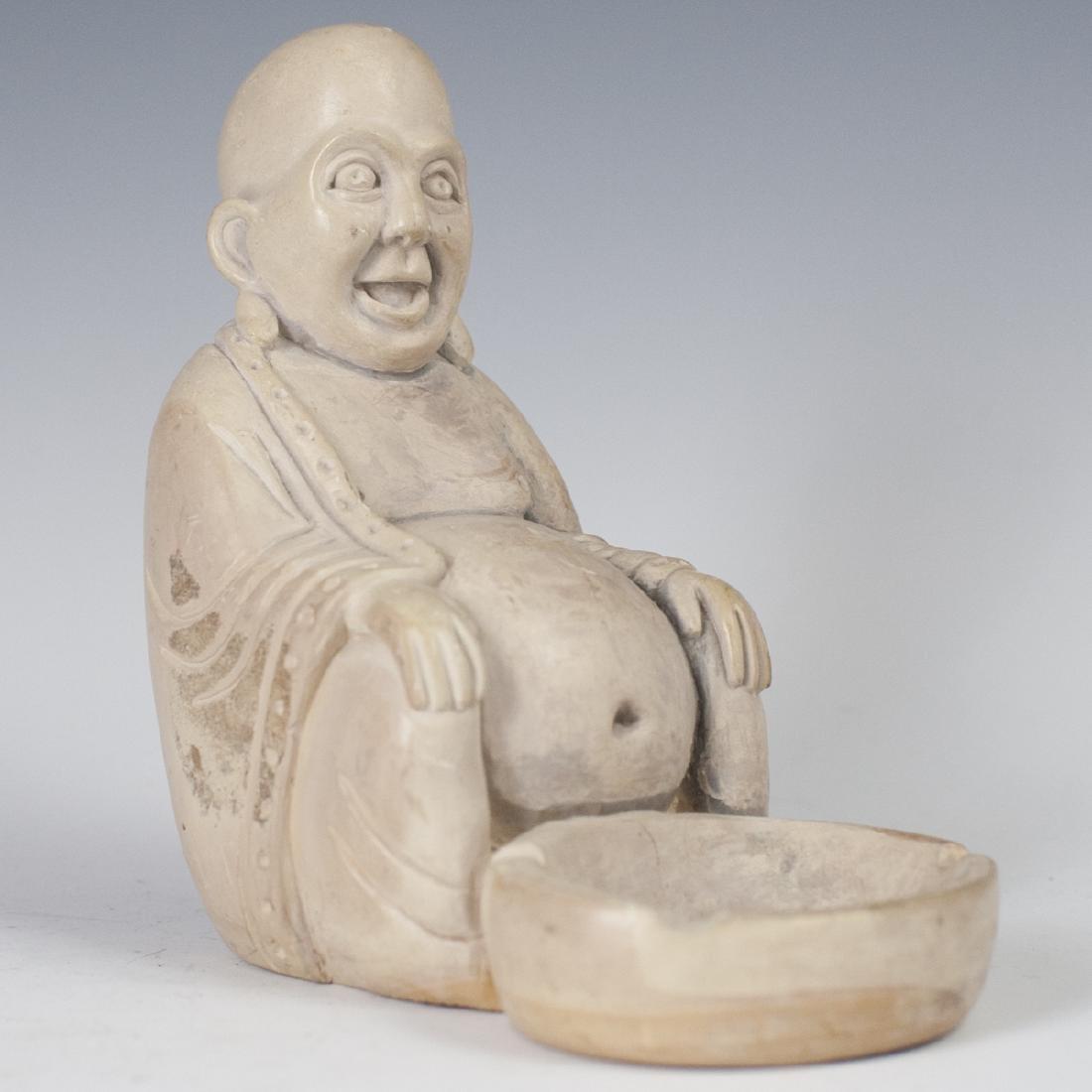 Carved Chinese Soapstone Ashtray
