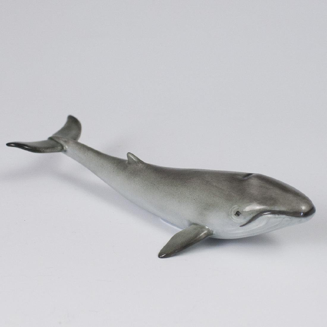 Herend Porcelain Naturalistic Whale Figurine