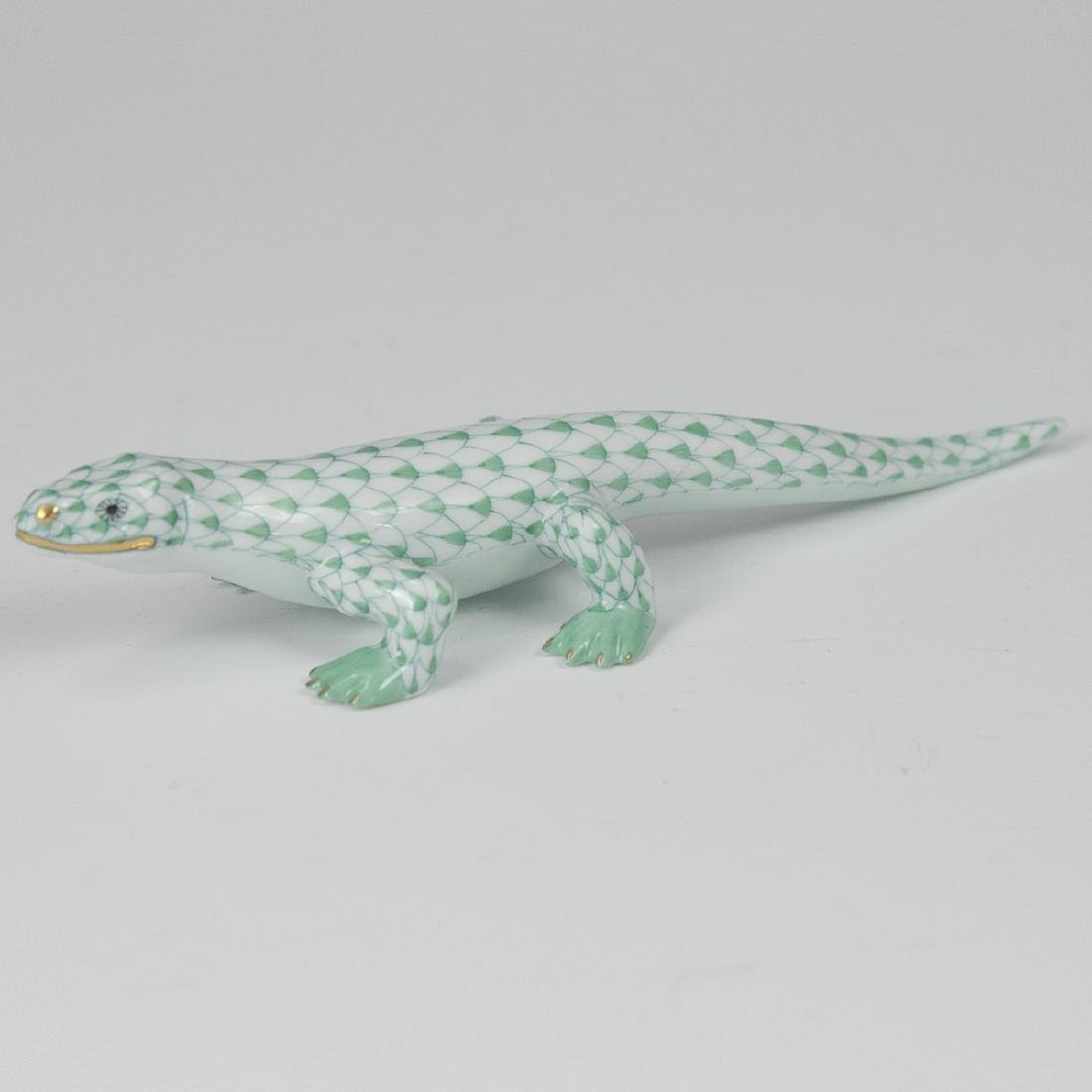 Herend Porcelain Fishnet Komodo Dragon