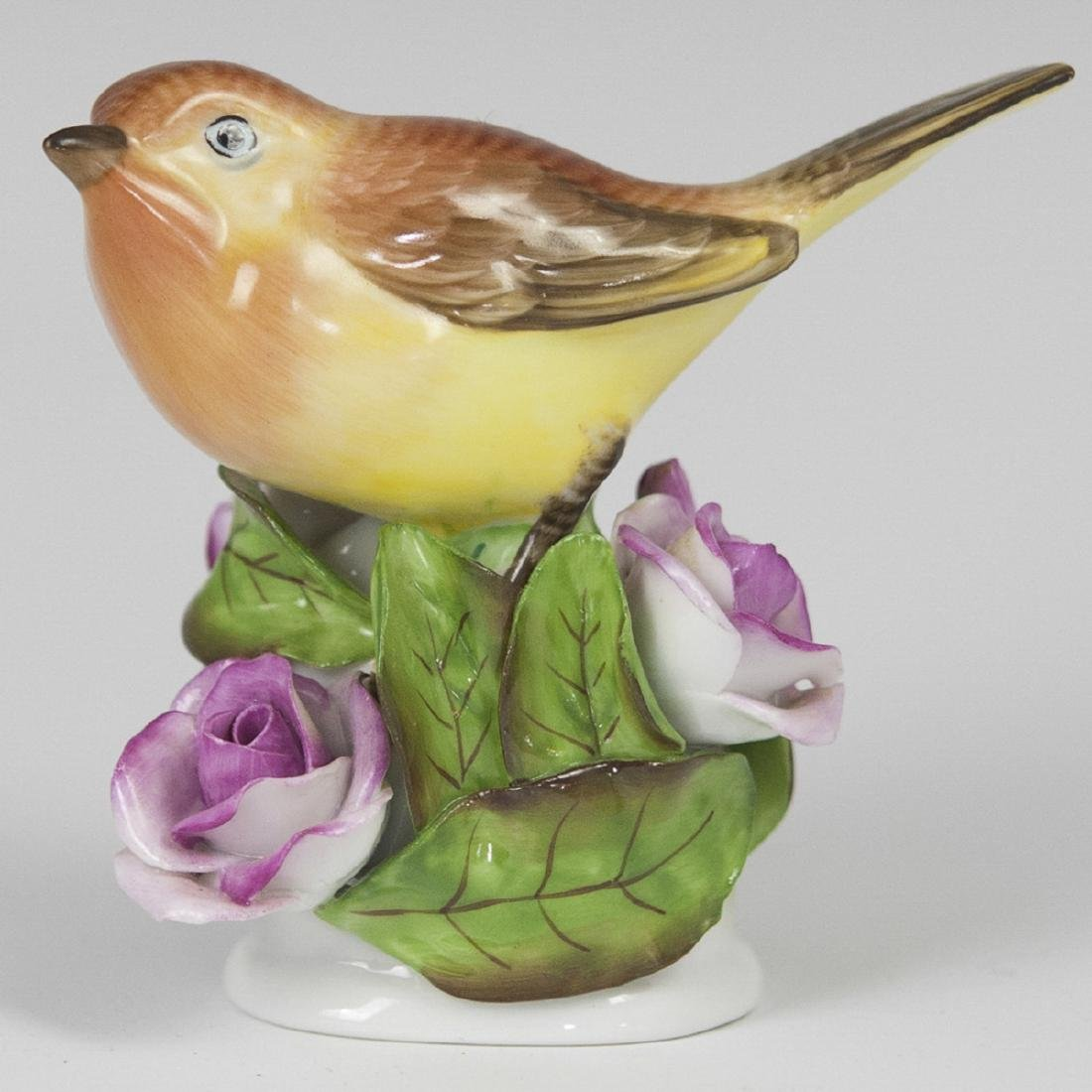 Herend Porcelain Bird Figurine
