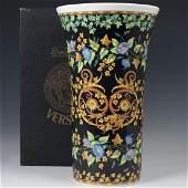 Rosenthal Versace Gold Ivy Porcelain Vase