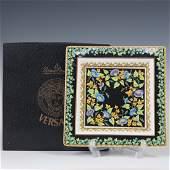 Rosenthal Versace Gold Ivy Porcelain Ashtray